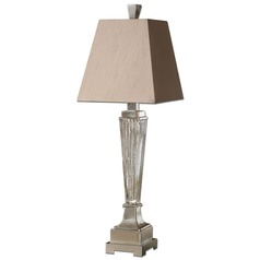Uttermost Canino Mercury Glass Pillar Table Lamp