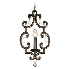 Kalco Lighting Montgomery Antique Copper Mini-Pendant Light