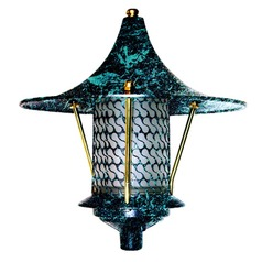 Verde Green Cast Aluminum Flair Top Pagoda Light