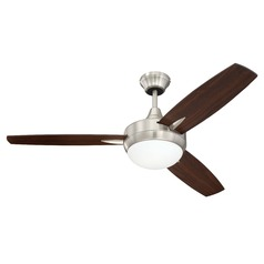 Craftmade Lighting Targas Brushed Polished Nickel LED Ceiling Fan with Light