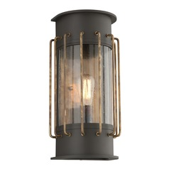 Troy Lighting Cabot Bronze with Historic Brass Accents Outdoor Wall Light