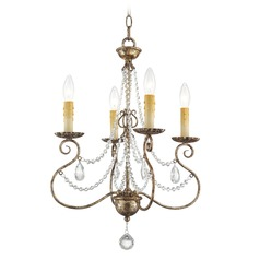 Livex Lighting Isabella Hand Applied European Bronze Mini-Chandelier