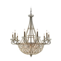Elk Lighting Elizabethan Dark Bronze Crystal Chandelier
