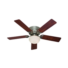52-Inch Hunter Fan Low Profile III Plus Antique Pewter Ceiling Fan with Light