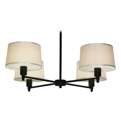 Robert Abbey Real Simple 4-Light Chandelier in Matte Black Powder