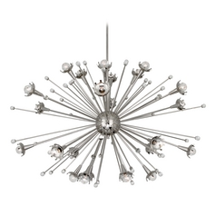 Mid-Century Modern Chandelier Polished Nickel Jonathan Adler Sputnik Robert Abbey
