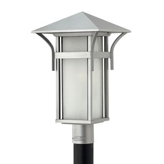 Etched Seeded Glass Post Light Titanium Hinkley Lighting