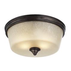 Feiss Lighting Arbor Creek Arbor Bronze / Weathered Brass Flushmount Light