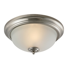 Cornerstone Lighting Huntington Brushed Nickel Flushmount Light