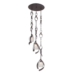 Kalco Lighting Solana Oxidized Copper Multi-Light Pendant with Cylindrical Shade