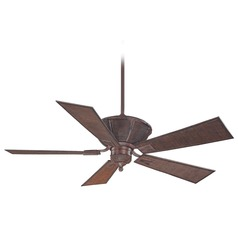 Savoy House Dark Bamboo Outdoor Ceiling Fan without Light