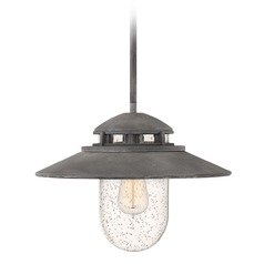 Hinkley Lighting Atwell Aged Zinc Outdoor Hanging Light