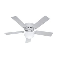 Hunter Fan Company Low Profile Iii Plus White Ceiling Fan with Light