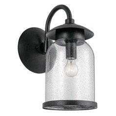 Seeded Glass Outdoor Wall Light Black Hugo by Kichler Lighting
