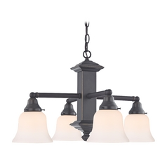 Design Classics Lighting Craftsman Chandelier Light with Four Lights 375-78 / G9110