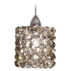 WAC Lighting Mini Haven Brushed Nickel LED Mini-Pendant Light with Rectangle Shade