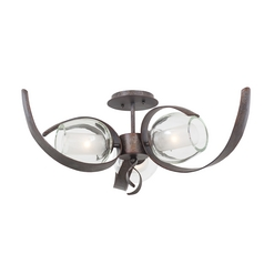 Kalco Lighting Solana Oxidized Copper Semi-Flushmount Light