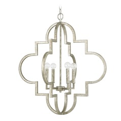 Capital Lighting Ellis Antique Silver Pendant Light