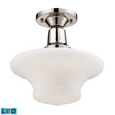 Elk Lighting Barton Polished Nickel LED Semi-Flushmount Light