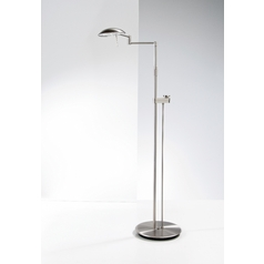 Holtkoetter Modern LED Floor Lamp in Satin Nickel Finish