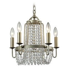 Elk Lighting Chandette Aged Silver Mini-Chandelier