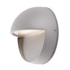 Modern Grey LED Outdoor Wall Light with Frosted Shade 3000K 127LM