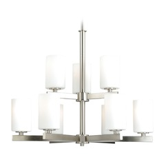 Glendale Satin Nickel Chandelier by Vaxcel Lighting