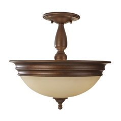 Semi-Flushmount Lights in Prescott Bronze Finish