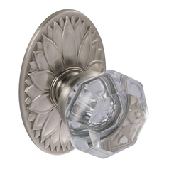 Clear Crystal Door Knob Privacy Set