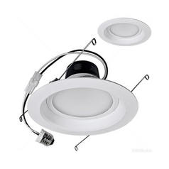 TCP Lighting LED Retrofit 6-Inch Recessed Trim - 12-Watts Total LED12DR627K