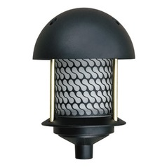 Black Cast Aluminum Round Top Pagoda Light