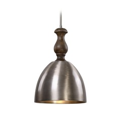 Farmhouse Mini-Pendant Light Grey Washed Wood Luna by Uttermost Lighting
