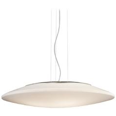 Kichler Modern Pendant Light with White Acrylic Shades