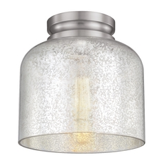 Mercury Glass Flushmount Light Brushed Steel Feiss Lighting