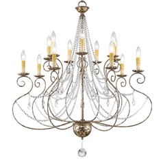 Livex Lighting Isabella Hand Applied European Bronze Chandelier