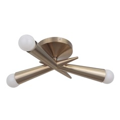 Craftmade Lighting Nova Satin Rose Gold Semi-Flushmount Light