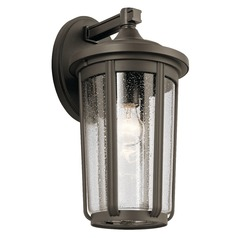Seeded Glass Outdoor Wall Light Olde Bronze Fairfield by Kichler Lighting