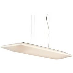 Kichler Modern Pendant Light with White Acrylic Shades