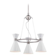 George Kovacs Brushed Nickel 3-Light Conic Mini-Chandelier