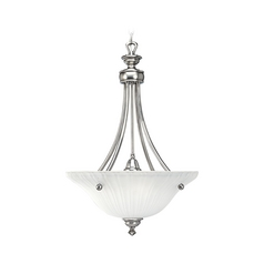 Progress Pendant Light with White Glass in Antique Nickel Finish