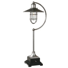 Farmhouse Table Lamp Silver with Black Toledo by Uttermost Lighting