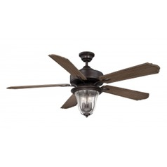 Savoy House Lighting Trudy English Bronze Ceiling Fan with Light