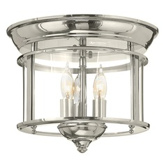 Hinkley Lighting Gentry Polished Nickel Flushmount Light
