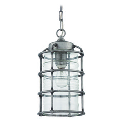Craftmade Lighting Hadley Aged Galvanized Outdoor Hanging Light