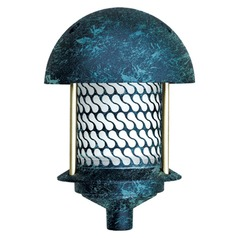 Verde Green Cast Aluminum Round Top Pagoda Light
