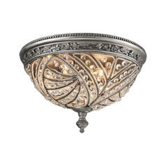 Elk Lighting Renaissance Weathered Zinc Flushmount Light