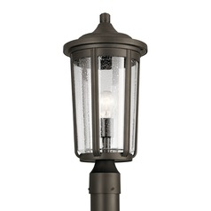 Seeded Glass Post Light Olde Bronze Fairfield by Kichler Lighting