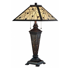 Lite Source Lighting Remus Dark Bronze Table Lamp with Square Shade
