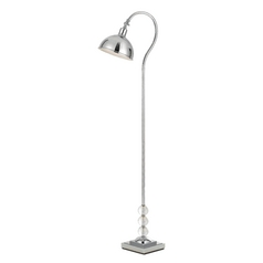 Modern Arc Lamp with Silver Shade in Chrome Finish