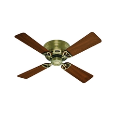 Hunter Fan Company Low Profile Iv Antique Brass Ceiling Fan Without Light